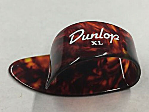 DUNLOP 9024R TORTIOSE SHELL CELLULOID THUMB PICKS 6 PICKS Extra Large