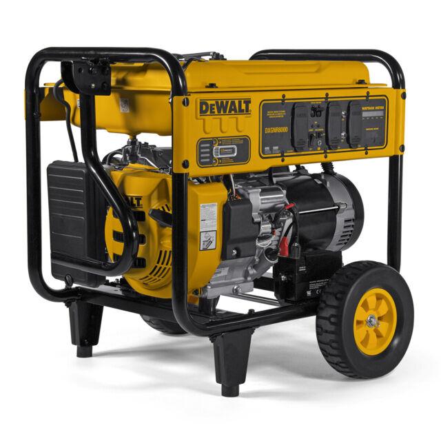 Dewalt Dxgnr8000 8000w Gasoline Portable Generator For Sale Online Ebay