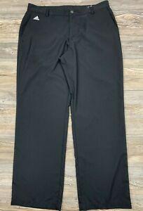 Pantalones De Golf Adidas Climalite 38 32 Negro Frente Plano 100 Poliester Ligero Ebay