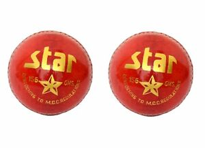 2X-CW-034-STAR-RED-034-HIGH-Quality-4-Piece-Cricket-Ball-156-g-A-Grade