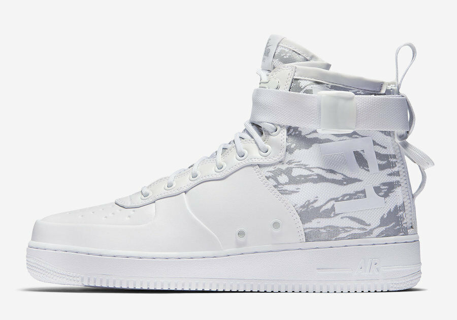 Nike Men's Air SF-AF1 Mid Winter NEW AUTHENTIC White/Reflect Silver AA1129-100