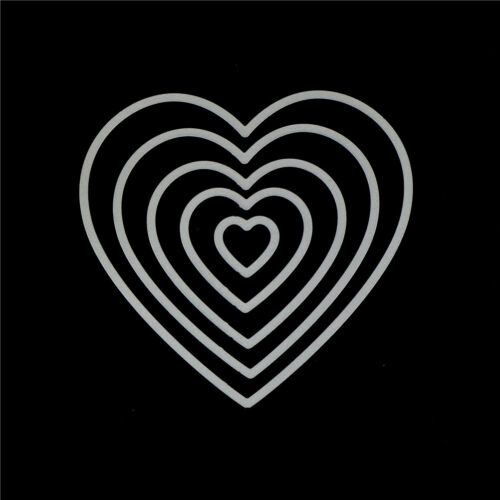 5Pc Love Heart Design Metal Cutting Die For DIY Scrapbooking Album Paper Card /&T