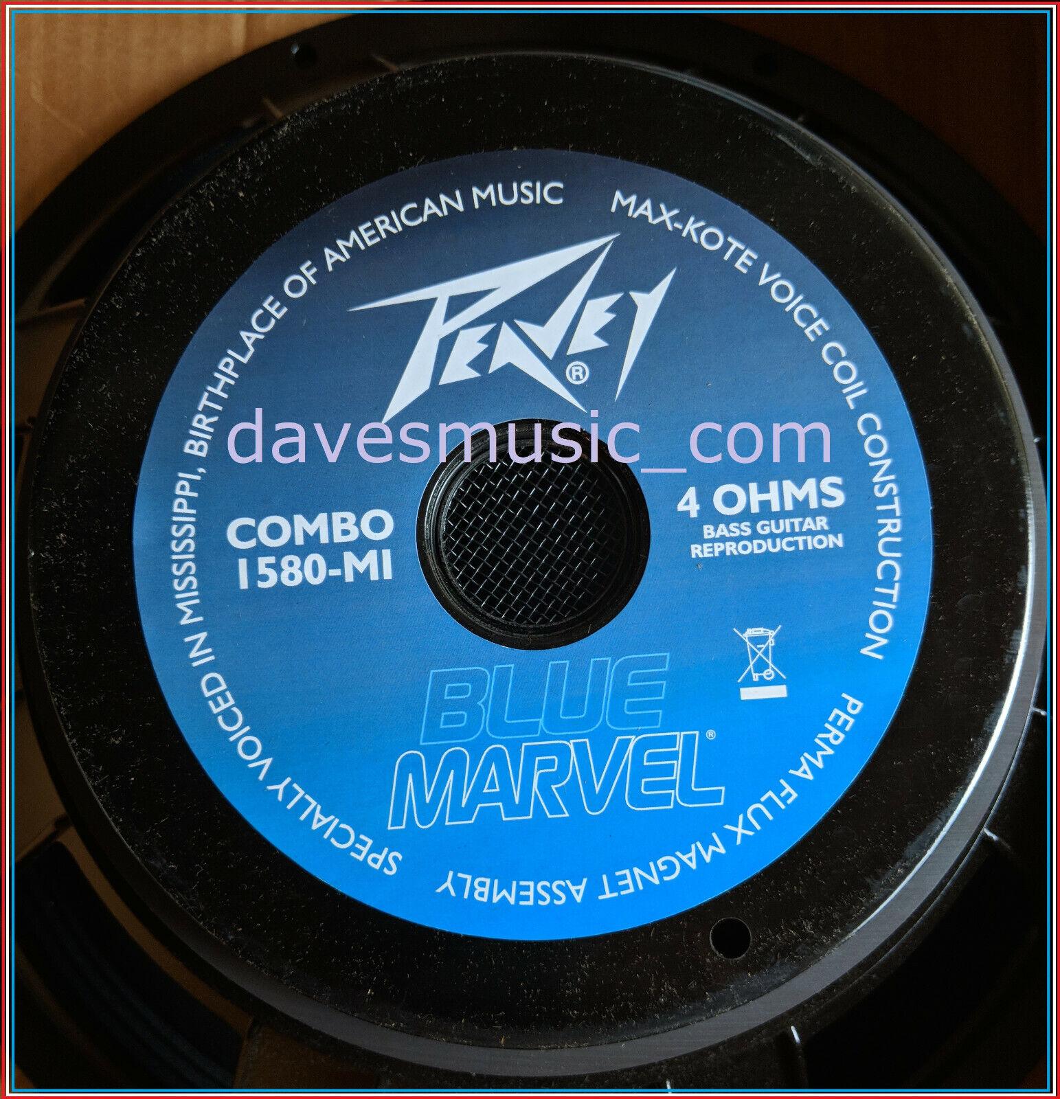 PEAVEY (2) blueE MARVEL 1580 15  Speaker For bluees Amp Brand NewShips FREE to USA
