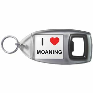 I Love Heart Moaning - Plastic Bottle Opener Key Ring New iktnsQaj-09155515-131704761