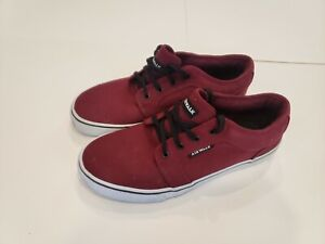 RED Fabric Sneakers Size 9.5 | eBay
