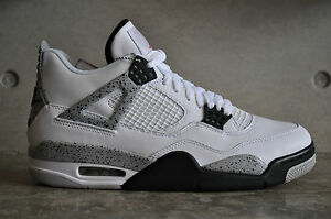 sports shoes 3b70b c4628 Image is loading Nike-Air-Jordan-4-Retro-OG-034-White-