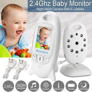 Video-Digital-Inalambrico-2-034-Baby-Monitor-pantalla-LCD-color-de-2-4-GHz-hablar-audio-vision