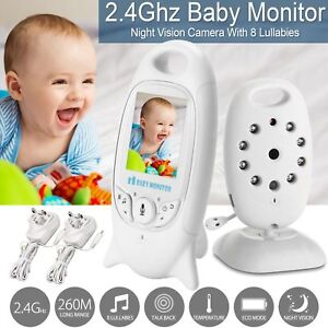 Video-Digital-Inalambrico-2-034-Baby-Monitor-pantalla-LCD-color-de-2-4-GHz-Audio-Vision-Nocturna