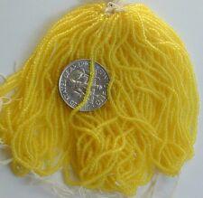 Lemon Yellow 15/0 Micro Seed Beads VTG MASTER HANK=10 Mini Hanks 30bpi (5033524)