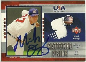 2003-Upper-Deck-MICAH-OWINGS-Signed-Card-UD-USA-autograph-GAME-USED-JERSEY