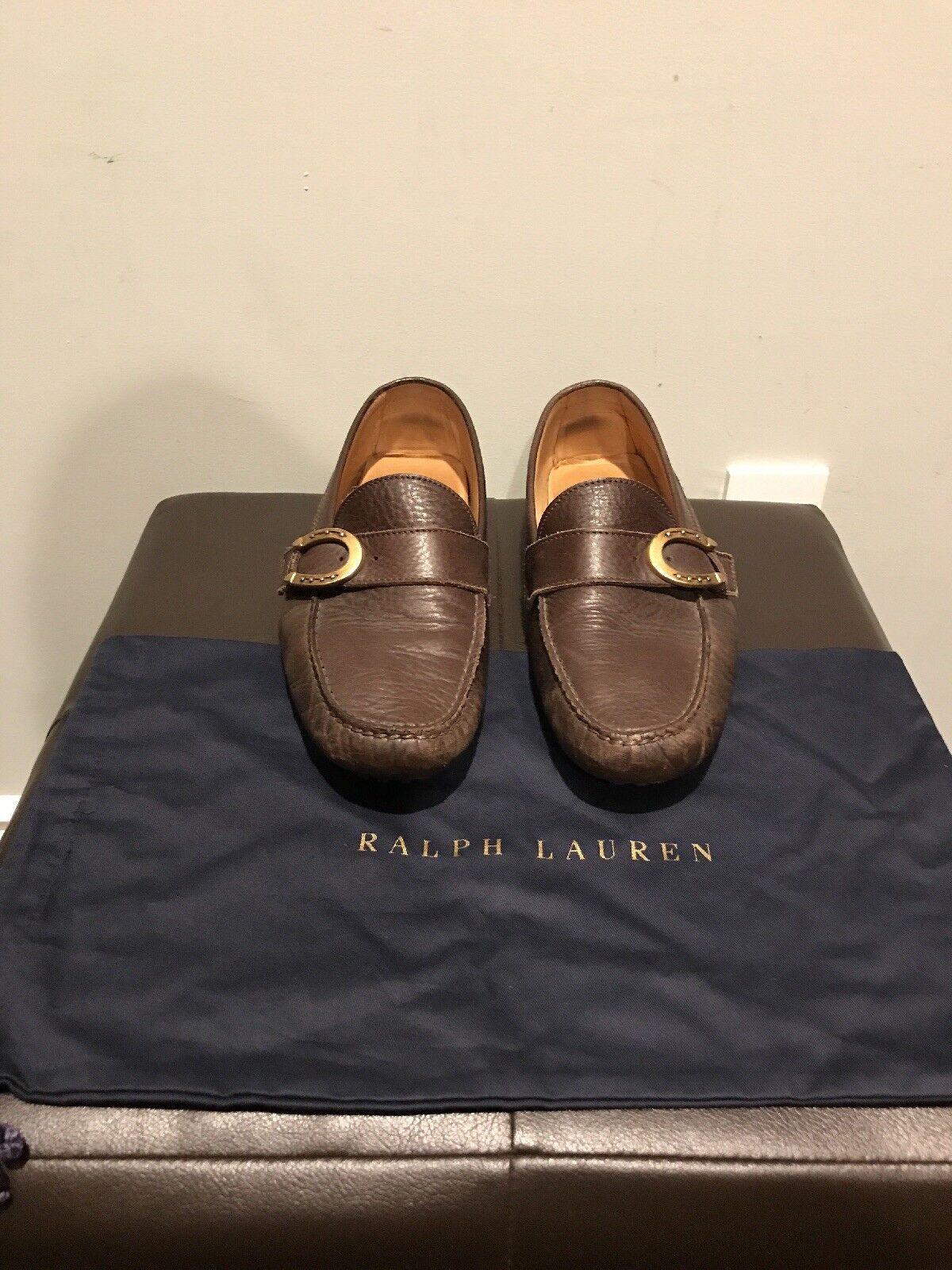 495 - Ralph Lauren Purple Label - Brown Loafer - Size 10