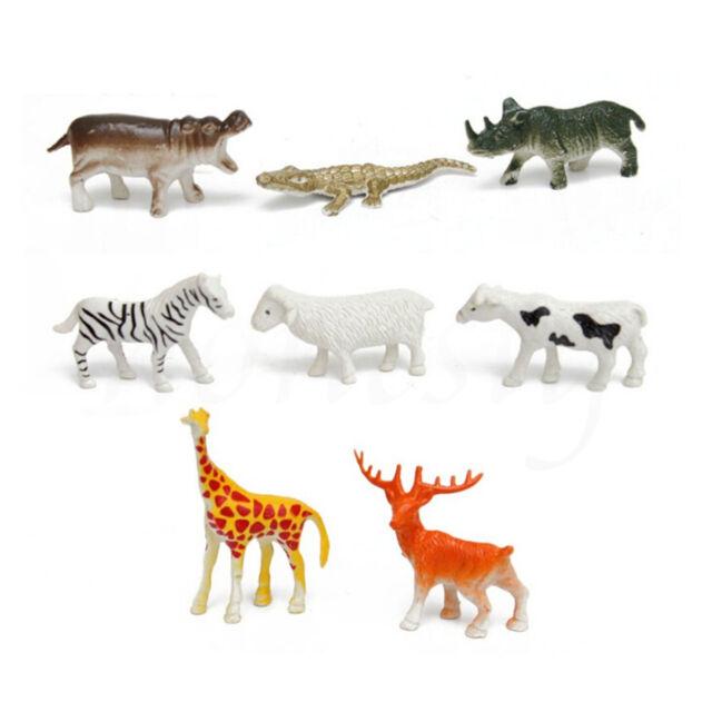 PACK OF 8 KIDS CHILDRENS ASSORTED PLASTIC PVC TOY FARM FARM YARD ANIMALS FIGURE