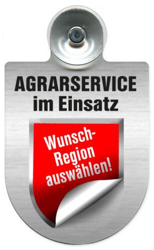 Schild Einsatzschild für Windschutzscheibe • AGRARSERVICE • im Einsatz 309802