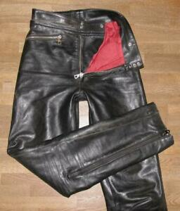 034-HARRO-034-Herren-Motorrad-Kombihose-Lederhose-in-schwarz-ca-Gr-44