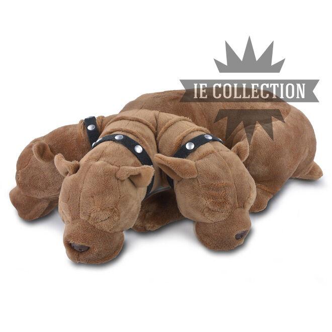 HARRY POTTER Fluffy Dog THREE TESTE SOFT TOY SNOWMAN 3 Header Dog Fluffy Plush
