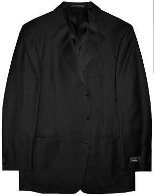Men's Clothing $2995 New Ermenegildo Zegna Saks Black 3 Button Tux Tuxedo Suit 56 44l 44 L Shrink-Proof