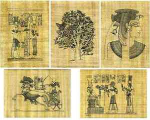 5-SHEETS-PAPYRUS-PAPER-WITH-PRE-DRAWN-EGYPTIAN-DESIGNS-TO-COLOUR-SCROLL-20x-30cm