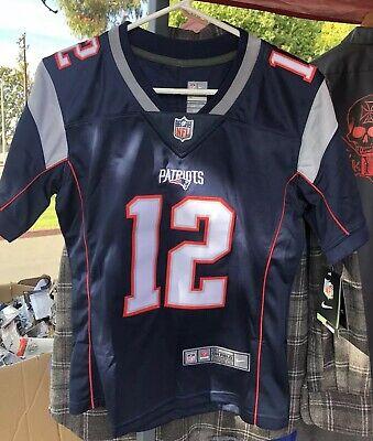 Nike New With Tags #12 TOM BRADY New England Patriots Jersey, kids M | eBay