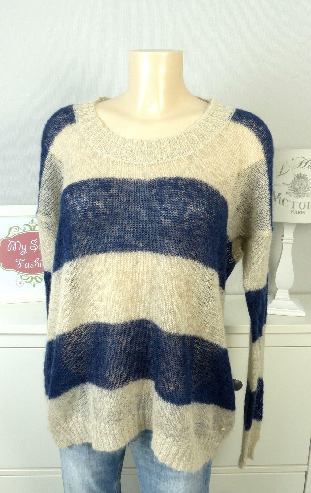 Marc O 'Polo Pullover a maglia Knit Top Sweater Blu Beige Taglia XL 42 (dg41)