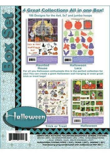 Anita Goodesign Halloween Box Set 4 in 1 Embroidery Machine Design CD NEW BX013