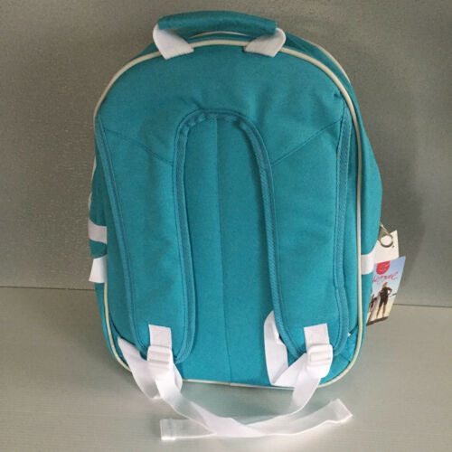 BNWT Girls Wavezone Brand Compact Size 2 Compartment Aqua School Backpack Bag
