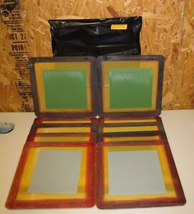 "HI TECH EDC 420D 420.27 A155 MESH SCREEN PRINTING PRINT FRAMES 12""x12"" LOT OF 10"
