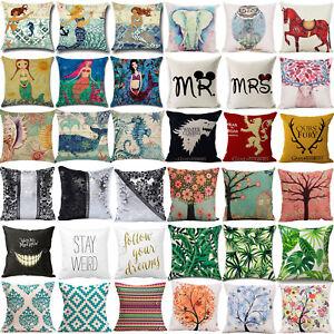 Square-Linen-Cushion-Cover-Pillow-Case-Sofa-Waist-Throw-Home-Living-Room-Decor