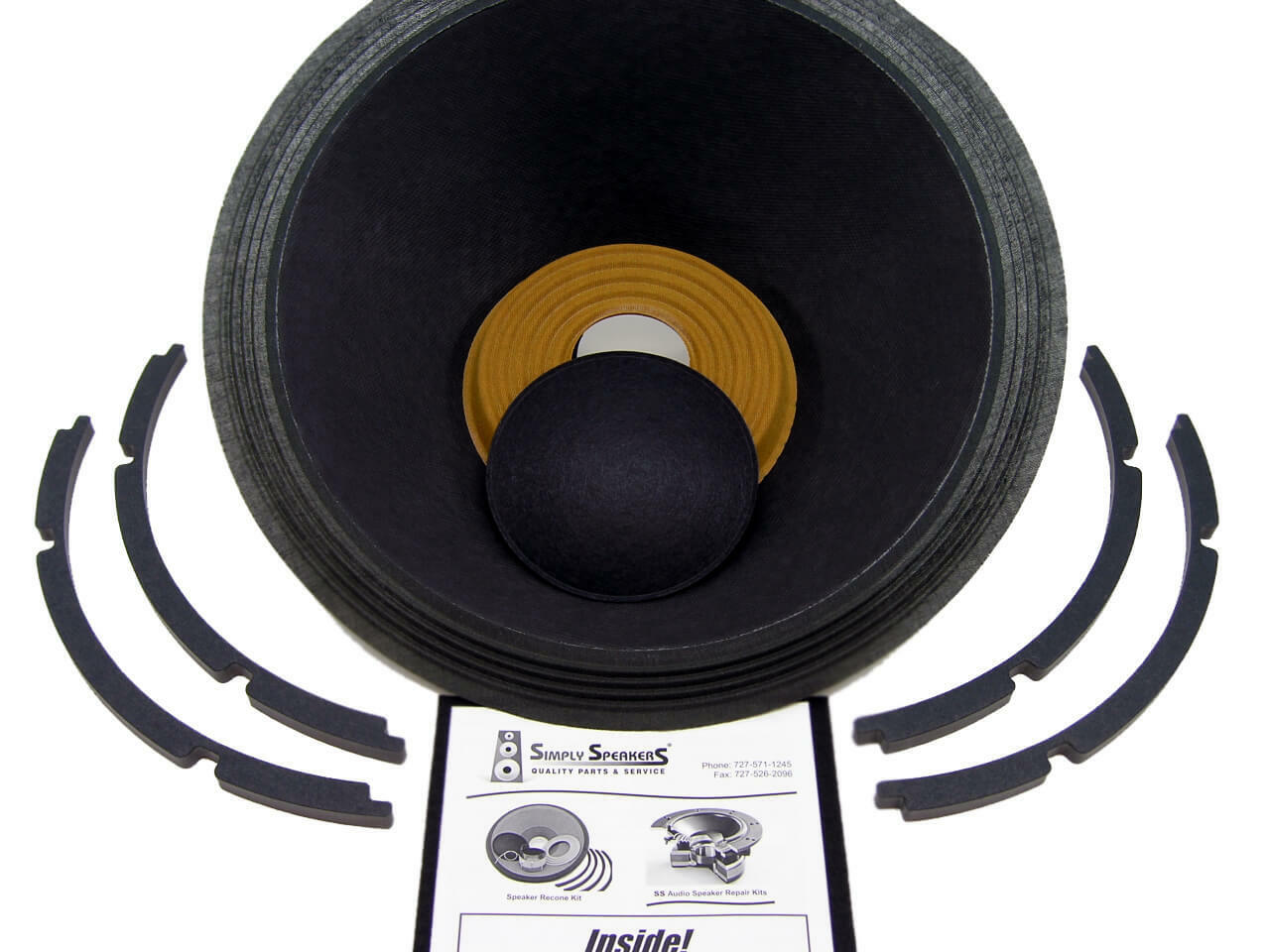 SS Audio Recone Kit for 15  Klipsch KD15, KD16 Passive Radiator, Cloth Edge