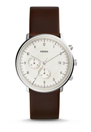 Fossil Brown Leather Watch 42mm Fs5488 Chase Timer Chronograph