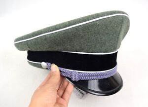 Military WWII WW2 German Elite Officer Hat Officer Army Cap 57 58 59 ... 90943a5a409d