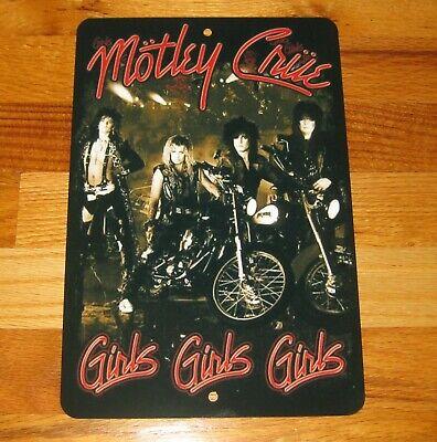 MOTLEY CRUE GIRLS GIRLS GIRLS Retro Vintage Look Reproduction Metal Sign