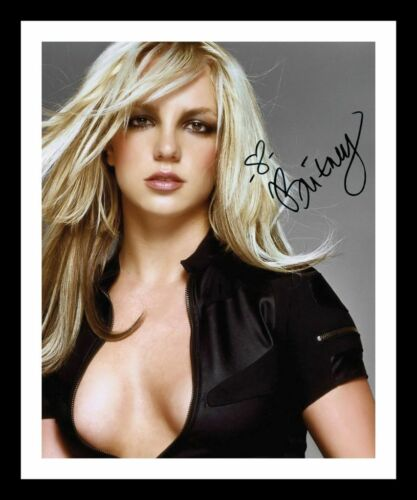 BRITNEY SPEARS AUTOGRAPHED SIGNED /& FRAMED PP POSTER PHOTO 4