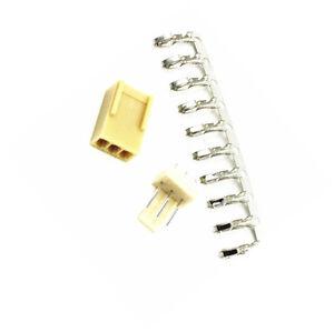 100sets KF2510 3Pin Connector Kit pitch 2.54mm Pin Header+Terminal+Housing