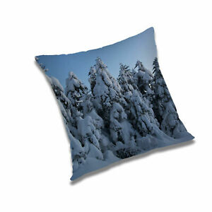 Snowfall Abstract Printed Nature Cushion Covers Polyester Sofa Throw Pillow Case
