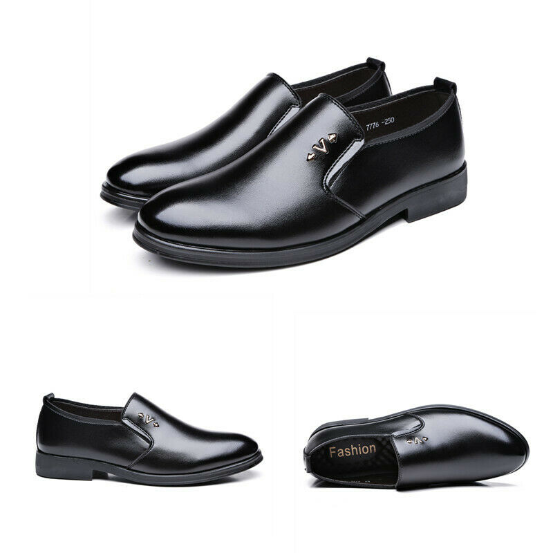 Mens Pumps Slip On Round Toe Flat Heel Breathable Casual Solid shoes Comfortable