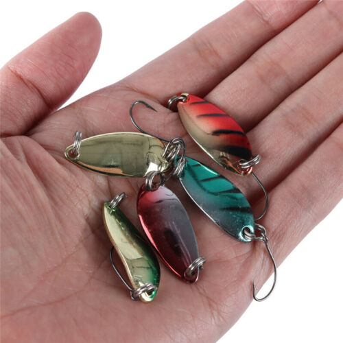 Goture 5pcs//lot Metal Spoon Fishing Lures Hard Bait Spinnerbaits Freshwater