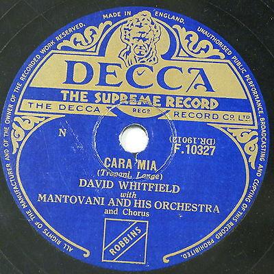 78 record in frame CARA MIA / LOVE TEARS & KISSES david whitfield