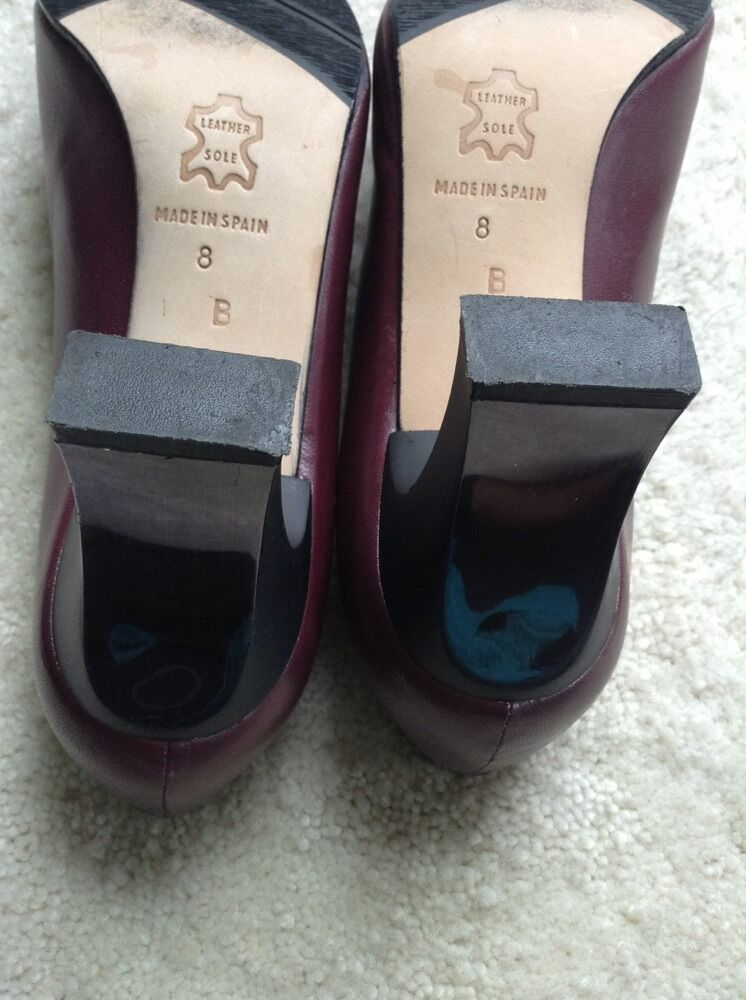Paul Melian Made In Spain Leder Burgundy Sole Sz 8 B Burgundy Leder 3a22a0