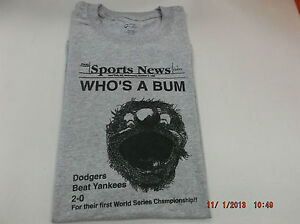 e86179be2 Brooklyn Dodgers Who s a Bum Dodgers beat Yankees 10 5 55 FREE ...