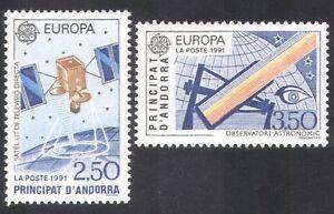 Andorra-1991-EUROPA-spazio-comunicazioni-via-satellite-Astronomia-Telescopio-2v-n39086
