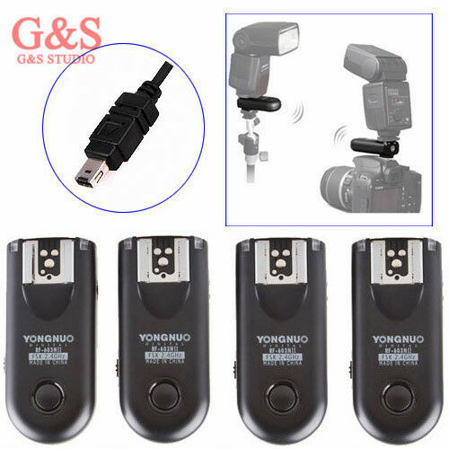 4pcs Yongnuo Rf-603 Ii Radio Wireless Remote Flash Trigger N3 For Nikon D7000
