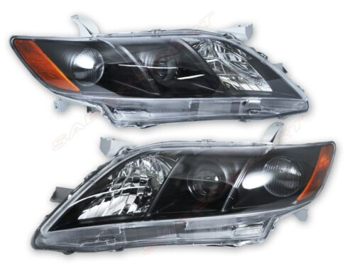 Set of Pair OE Style Black Headlights for 2007-2009 Toyota Camry CE LE SE XLE