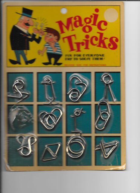 Vintage Magic Tricks puzzles Original Packaging