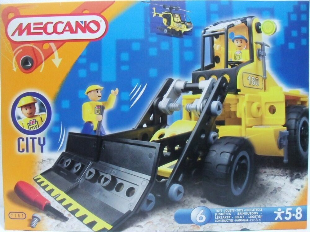 Meccano City Cod. 71 7104 Per Imparare A Costruire Fino A 6 Modelli