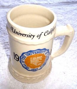 VINTAGE MUG STEIN UNIVERSITY OF CALIFORNIA CAL 1947 LOU NASSAU CHINA TRENTON NJ