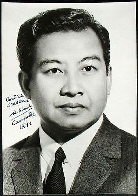 Politik Aggressiv S1708 Norodom Sihanouk Cambodscha Autograph 1971 On Photo Einen Effekt In Richtung Klare Sicht Erzeugen