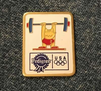 Baseball Pin Badge ~ Barcelona 1992 Olympic Mascot Cobi ~ Sponsor~Pedigree