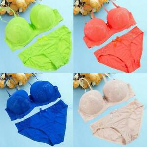 Lace Drill Bra Set Sexy Women Push Up Underwear Set Bra   Thong Set ... 90d1e1465