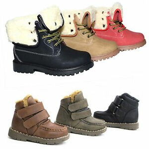 NEW-Boys-Girls-Winter-Boots-Snow-Boots-Snow-Hiking-Shoes-Padded-025