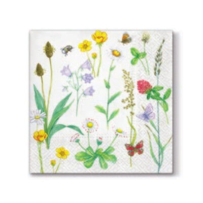 """Pack of 20 paper napkins 33x33cm Decoupage /""""In My Garden/"""" 3ply"""